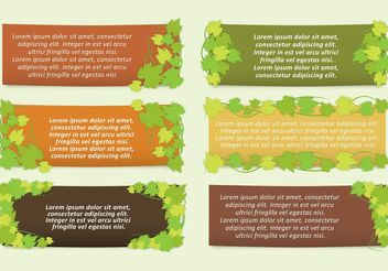Ivy Leaves Banner Vectors - Free vector #146037