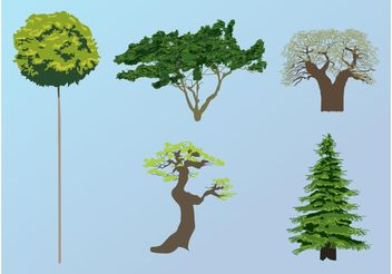 Tree Vectors - vector #146107 gratis