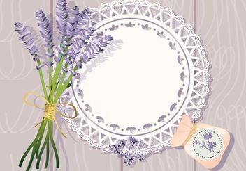 Doily with Lavender Background Vector - Free vector #146157