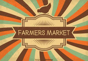Vintage Farmers Market Illustration - Free vector #146167