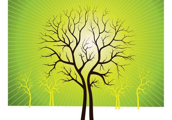 Vector Art Trees - Kostenloses vector #146257