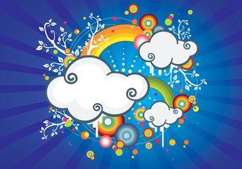 Rainbow Sky - Free vector #146267