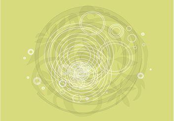 Round Plant Design - vector gratuit #146357