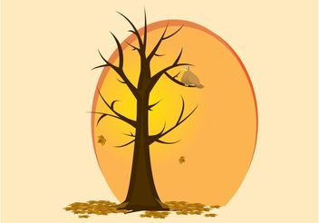 Autumn Bird Vector - Free vector #146397