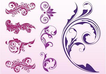 Floral Scrolls Set - Free vector #146467