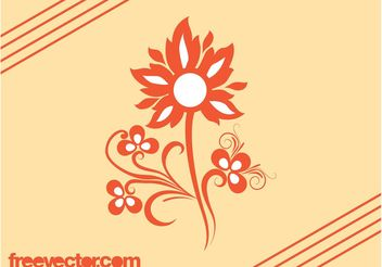Flower Vector Design - vector gratuit #146507