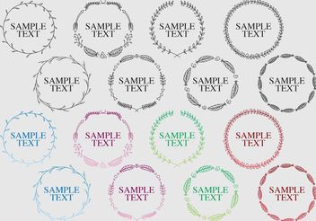 Decorative Boho Round Frame Vectors - бесплатный vector #146597