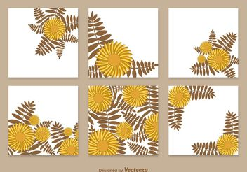 Floral Cards Template Vectors - Free vector #146617