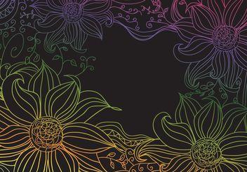 Boho Flowers - vector #146677 gratis