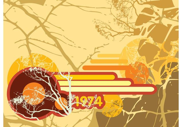 Retro Nature Vector Art - Free vector #146747