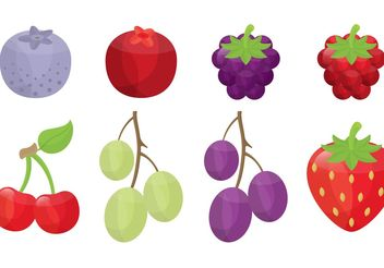 Berry and Fruit Vectors - vector gratuit #146867