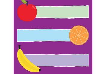 Fruit Vector Banners - Free vector #146877