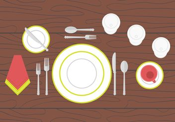 Dinner Table Setting - vector #146907 gratis
