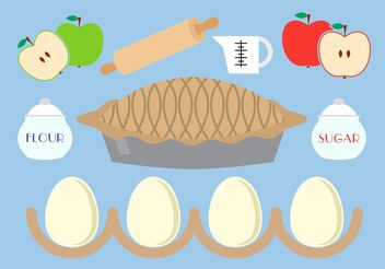 Apple Pie Vector Pack - Free vector #146917