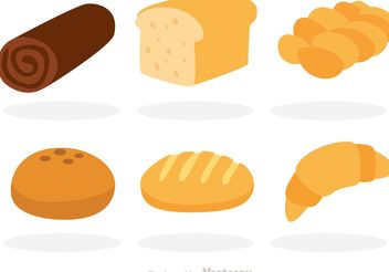 Vector Bread Flat Icons - Free vector #147057