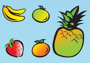Fruit Drawings - Free vector #147067