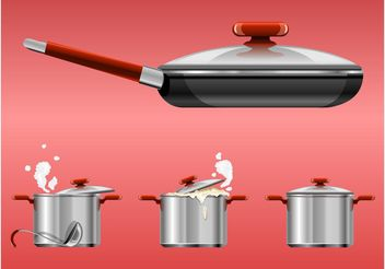Cooking Pots - Free vector #147097