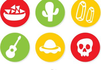 Mexican Icons Vectors Pack 1 - Free vector #147157