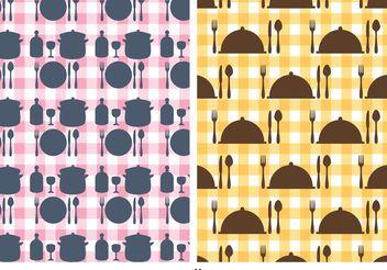 Free Kitchen Utensils Vector Pattern - Kostenloses vector #147407