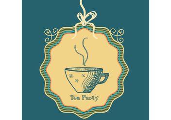 Sketched Tea Cup Vector Background - Free vector #147477