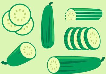 Cucumber Vectors - vector #147497 gratis