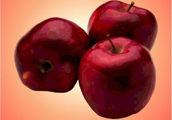 Red Apples - vector gratuit(e) #147537