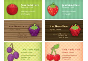 Farmer Business Card Vectors - vector gratuit #147607