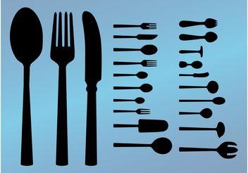 Cutlery Vectors - Free vector #147657