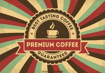 Vintage Coffee Poster - vector gratuit #147697