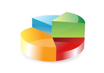 Pie Chart Vector - Free vector #147747