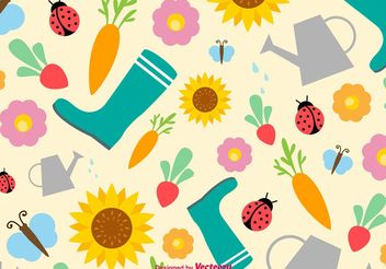 Springtime and Summertime Vector Background - Free vector #147787