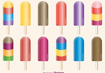 Ice Cream Pops Vectors - бесплатный vector #147797