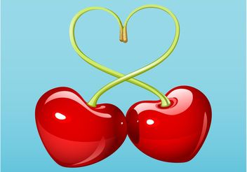 Lovely Cherries - vector gratuit #147837