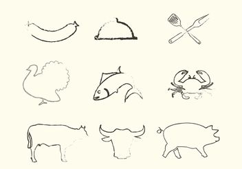 Sketchy Animal Vectors - Free vector #147987