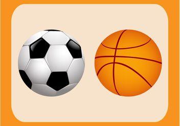 Sports Balls Vectors - Free vector #148067