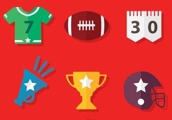 American Football Icons Vector - бесплатный vector #148177