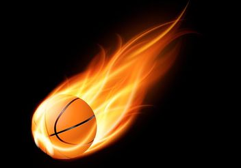 Free Basketball On Fire Vector - Free vector #148327