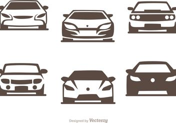 Cars Silhouette Vector Pack of Sports Cars - Free vector #148397