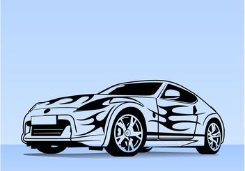 Sports Car Illustration - Free vector #148407