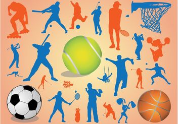 Sport Silhouettes - Free vector #148417