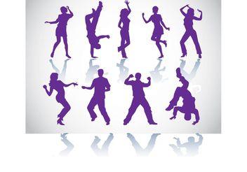 Dancers Vectors - Free vector #148697