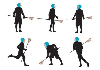 Lacrosse Players - Free vector #148707