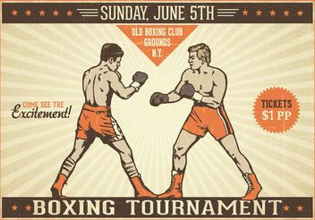 Free Boxing Vintage Vector Poster - Free vector #148727