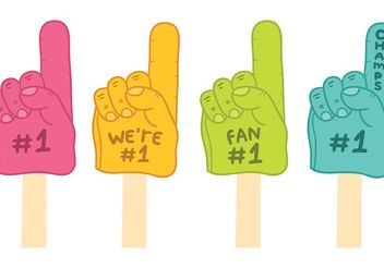 Free #1 Foam Finger Vectors - бесплатный vector #148737