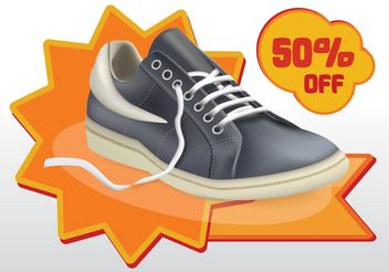 Shoes Sale Vector - vector #148907 gratis