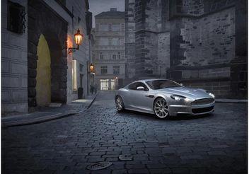 Silver Aston Martin DBS - Free vector #148957