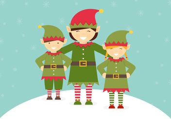 Free Santa Elves Vector - бесплатный vector #149357