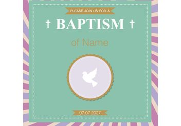 Baptism Card Christening Vector - Free vector #149417