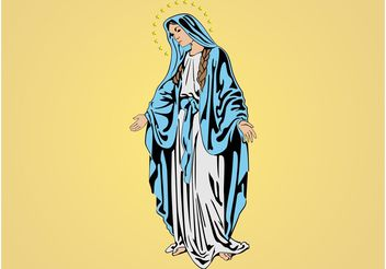 Mary Mother of Jesus - Free vector #149427
