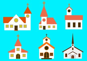 Country Church Vectors - vector gratuit #149487